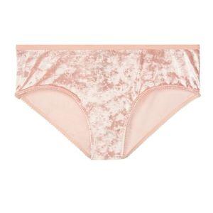 Victoria's Secret Velvet Hiphugger Panty NWT L